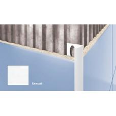 Профиль для плитки CEZAR внешний 10мм белый