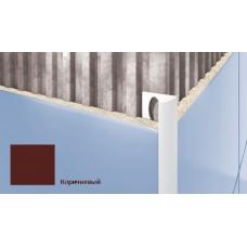 Профиль для плитки CEZAR внешний 10мм коричневый