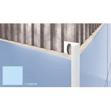 Профиль для плитки CEZAR внешний 7мм голубой